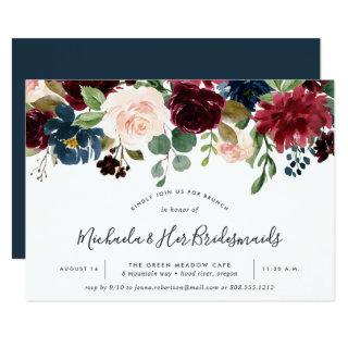 Radiant Bloom Bridesmaids Brunch Invitations
