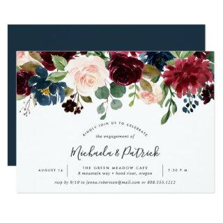 Radiant Bloom Engagement Party Invitations
