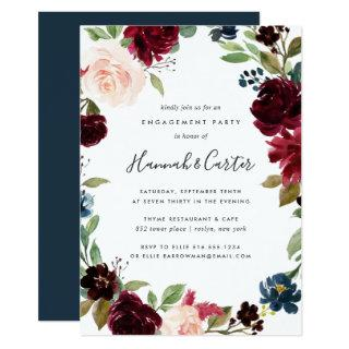 Radiant Bloom Floral Engagement Party Invitations