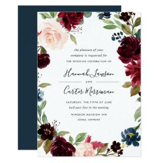 Radiant Bloom Floral Frame Wedding Invitations