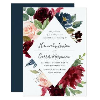 Radiant Bloom Frame Wedding Invitation