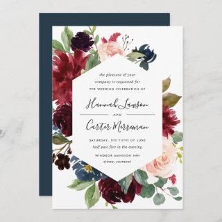 Radiant Bloom Frame Wedding Invitations
