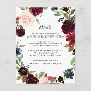 Radiant Bloom Guest Information Card