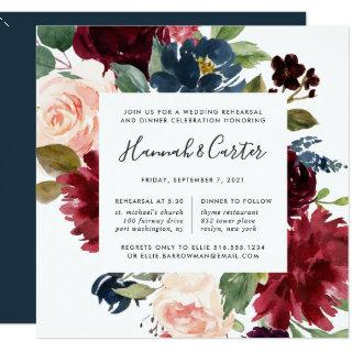 Radiant Bloom Rehearsal Dinner Invitations