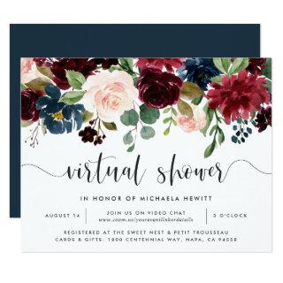 Radiant Bloom Virtual Bridal or Baby Shower Invitations