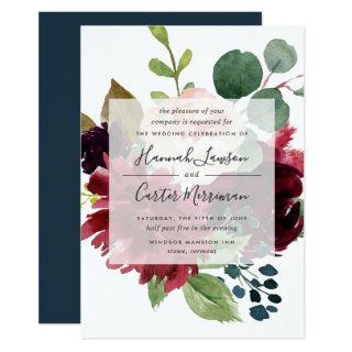 Radiant Bloom Wedding Invitations