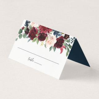 Radiant Bloom Wedding Place Card