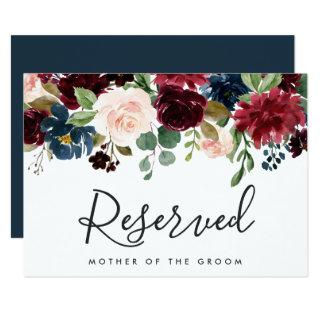 Radiant Bloom Wedding Reserved Sign Invitation