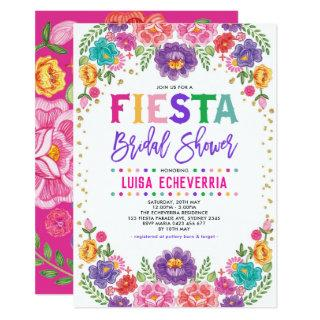 Radiant Mexican Floral Fiesta Bridal Shower Invitation