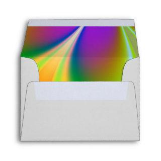 Rainbow of Colors Wedding Envelope