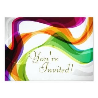 Rainbow Ribbons Wedding Invitations - Dave & Greg