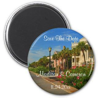 Rainbow Row Save The Date Wedding Save The Date Magnet