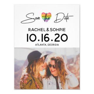 Rainbow Save the Date Invitations