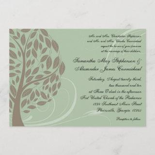 Recycled Paper Green Eco Tree Wedding