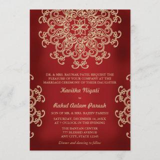 RED AND GOLD INDIAN STYLE WEDDING