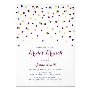Red & Blue Modern Confetti Wedding Bridal Shower Invitations