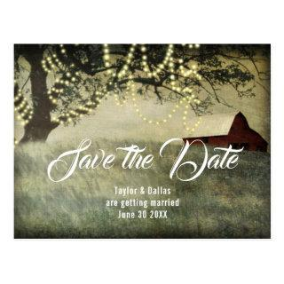 Red Country Barn | Country Morning Save the Date Postcard