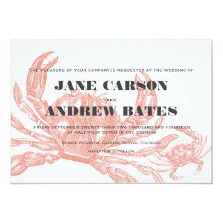 Red Crab Invitations