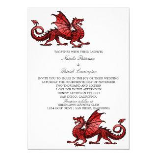 Red Dragon Wedding Invite