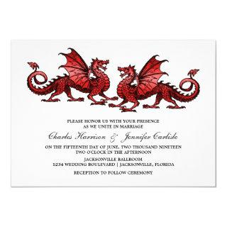 Red Elegant Dragon Wedding Invite