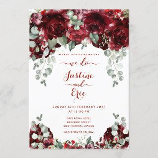 Red Peony Epiphany Luxury Wedding Invitations Suite