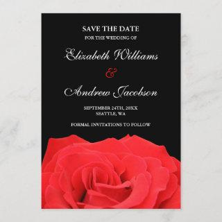 Red Rose and Black Wedding Save the Date