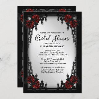 Red Rose Gothic Bridal Shower Iron Gate