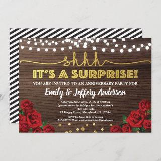 Red rose surprise anniversary party