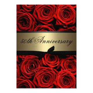 Red Roses | Golden Anniversary Invitations