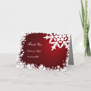 red winter wedding Thank You