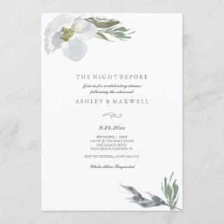 Rehearsal Dinner Cool Grey Watercolor Florals