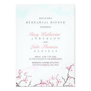 Rehearsal Dinner | Watercolor Cherry Blossoms Invitation