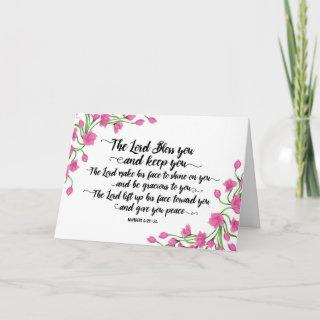 Religious The Lord Bless You and Keep You Card