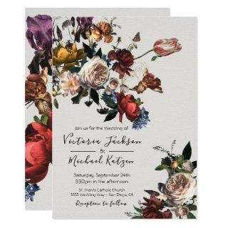 Rembrandt Floral light & airy Wedding Invitations