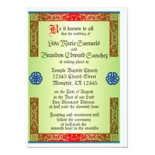 Renaisaince Medieval Wedding Invitation