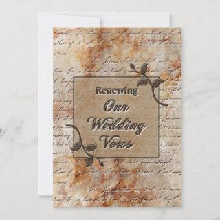 Renewing Wedding Vows Invitgation - Etched in Ston Invitations