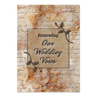Renewing Wedding Vows Invitgation - Etched in Ston Invitation