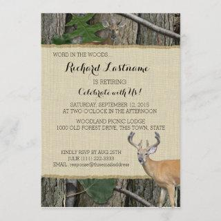 Retirement Party Buck and Doe Invitations