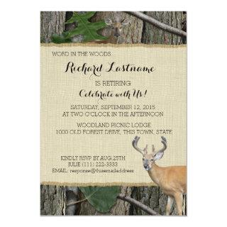 Retirement Party Buck and Doe Invitation