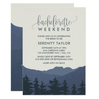 Retreat to the Mountains Bachelorette Weekend Invitations