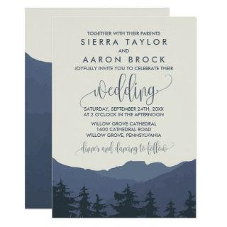 Retreat to the Mountains Wedding Invitations
