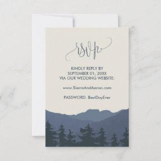 Retreat to the Mountains Wedding Website RSVP Card