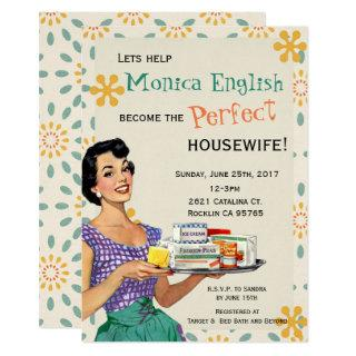 Retro 1950's Housewife Bridal Shower Invitations