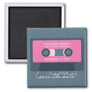 Retro Mixtape Wedding Save the Date Magnet
