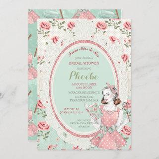 Retro Vintage Housewife 50's Bridal Shower Invitations