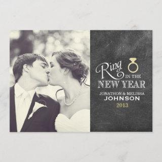 Ring in the New Year | Gold Ring Holiday Card