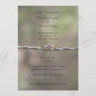 Ring on Barbed Wire Wedding Invitations