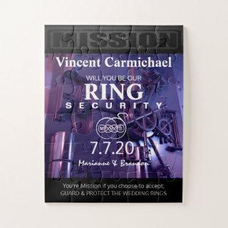 Ring Security Puzzle Invitations