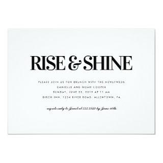Rise and Shine Brunch Invitations