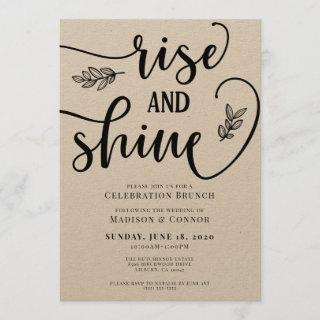Rise and Shine Wedding Weekend Brunch